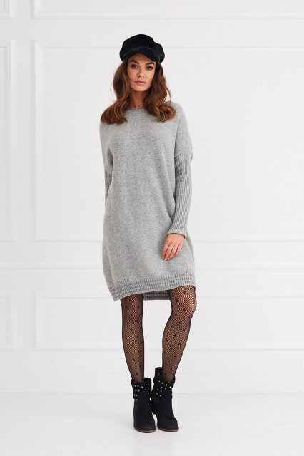 528bdb7650e Click to enlarge. HomeShopDresses Grey Long Sleeve Jumper /Dress/Tunic ERIN  One size